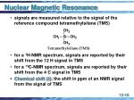 nuclear magnetic resonance16