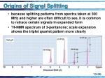 origins of signal splitting36