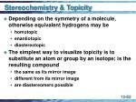stereochemistry topicity