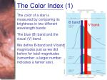 the color index 1