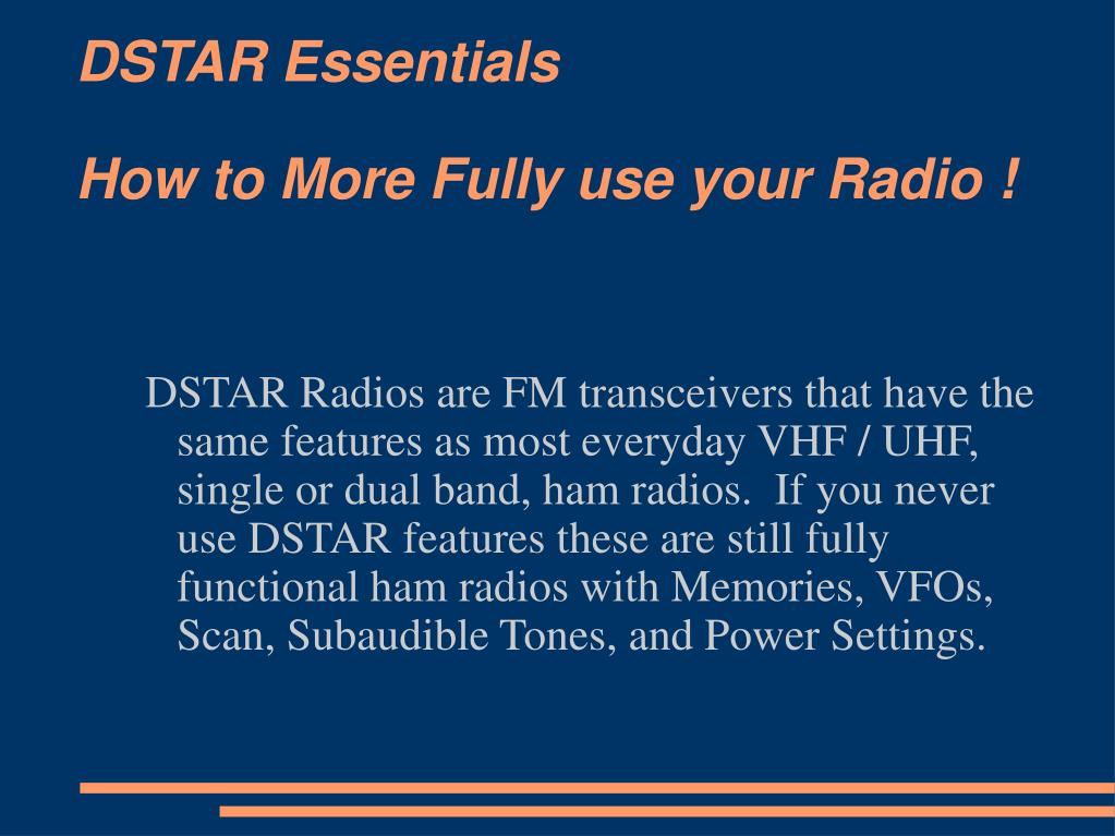 dstar essentials how to more fully use your radio l.