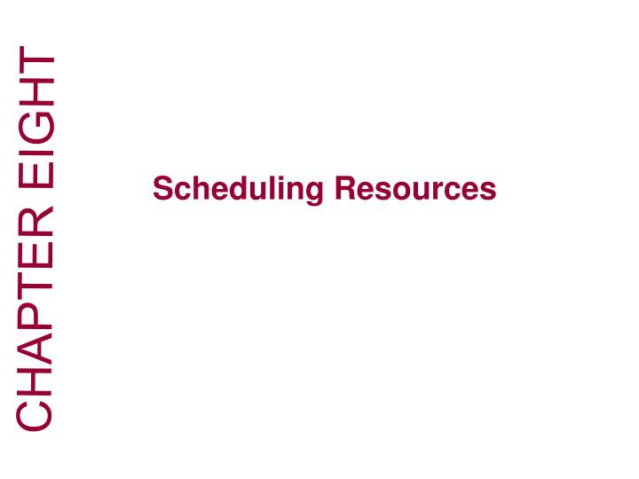 how does resource scheduling reduce flexibility You need to know how much work your team does on a typical day, which is something you can track on the online gantt chart, as their statuses this is how you avoid bottlenecks in your schedule, by staying flexible and knowing where your resources are allocated at any given moment in the project.