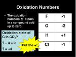 oxidation numbers10