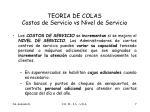 teoria de colas costos de servicio vs nivel de servicio