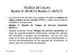 teoria de colas modelo b m m s modelo c m d 1