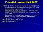 potential issues kma 200718