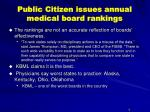 public citizen issues annual medical board rankings9