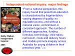 independent national inquiry major findings