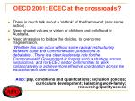 oecd 2001 ecec at the crossroads