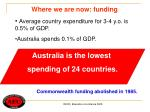 where we are now funding