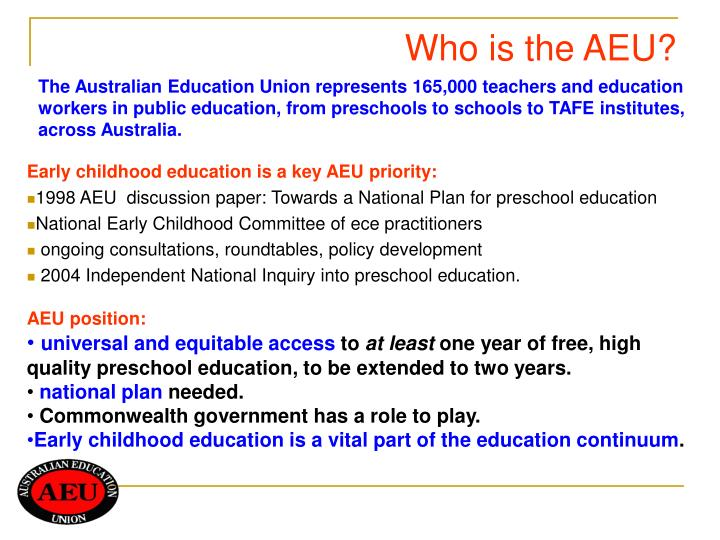 Who is the aeu