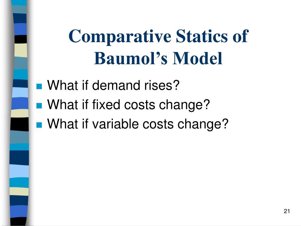 Comparative Statics of