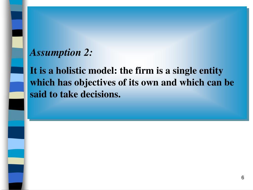 Assumption 2: