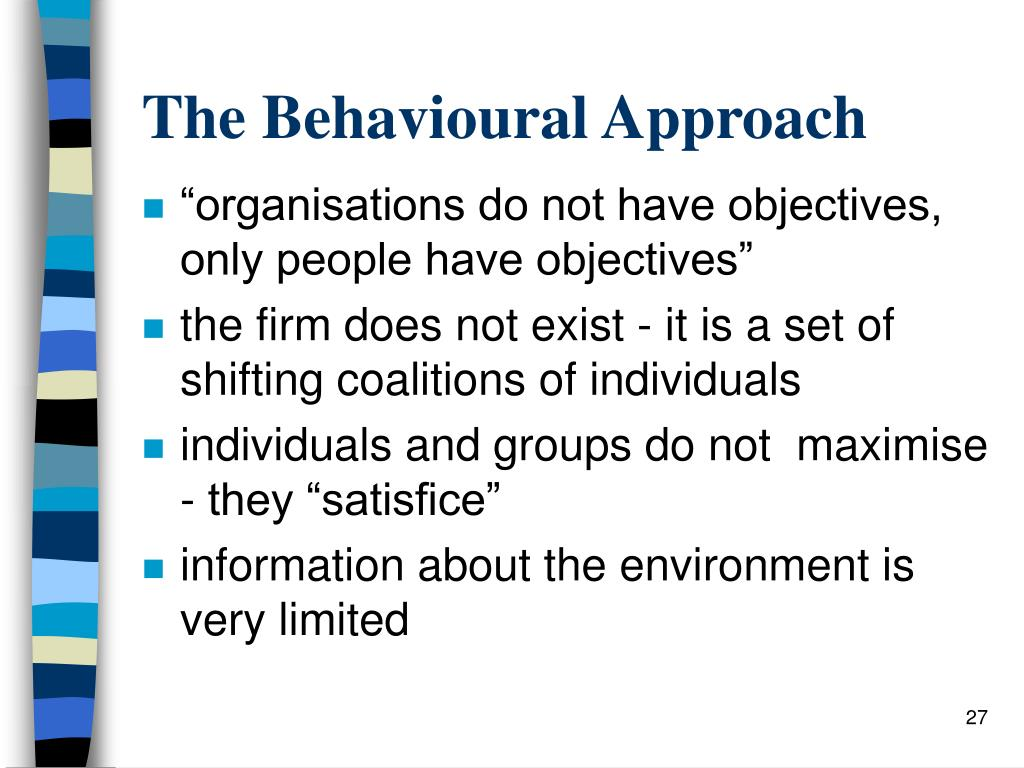 The Behavioural Approach