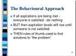 the behavioural approach28