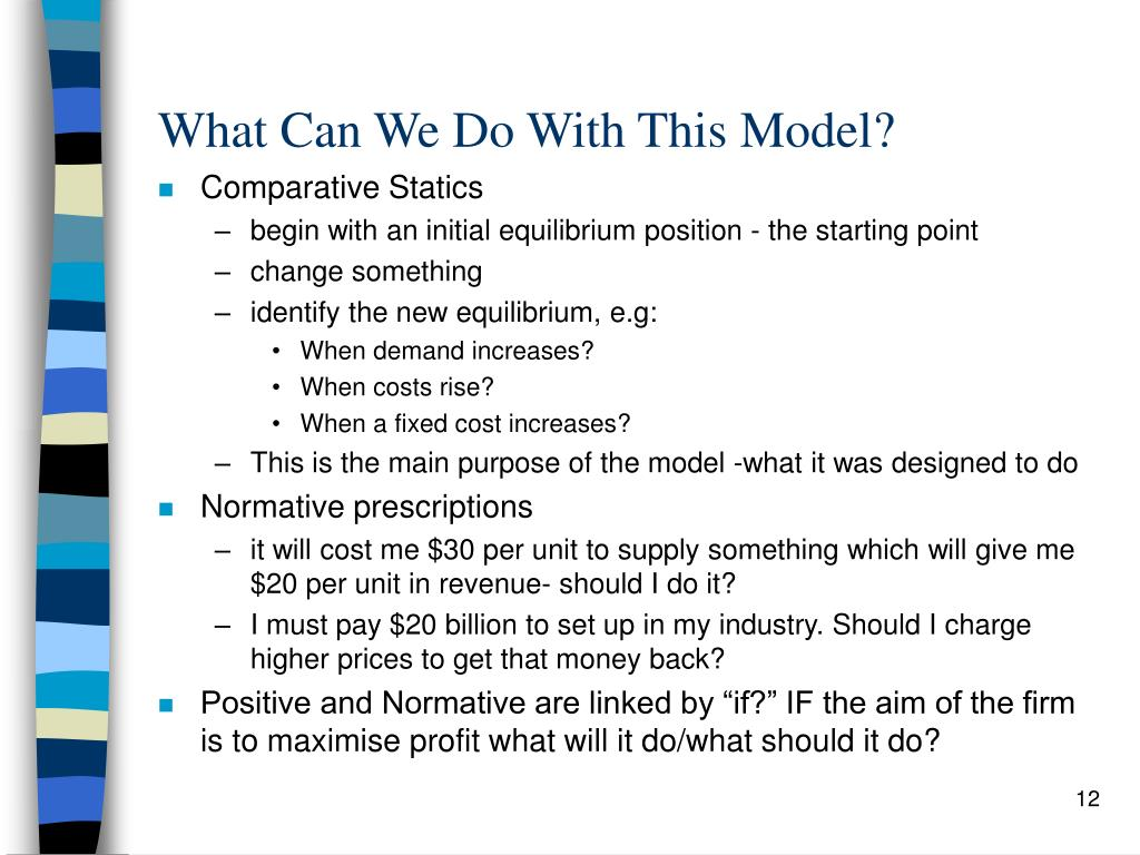 What Can We Do With This Model?