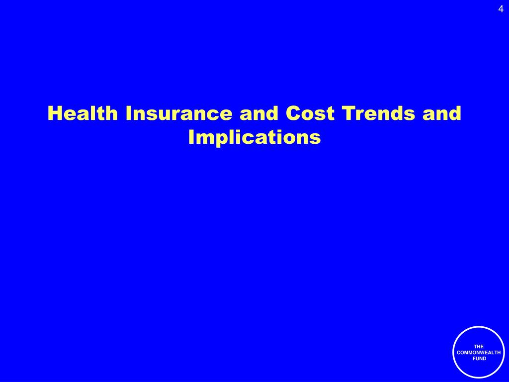 Health Insurance and Cost Trends and Implications