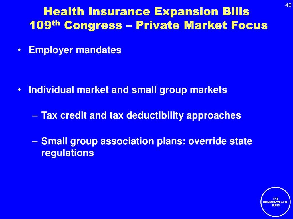 Health Insurance Expansion Bills