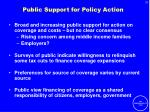 public support for policy action