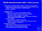 schip reauthorization 2007 policy issues