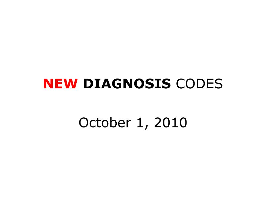 new diagnosis codes l.