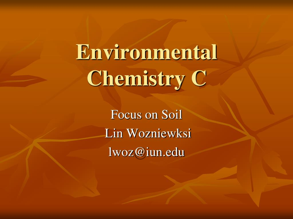 environmental chemistry c l.