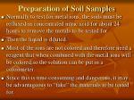 preparation of soil samples