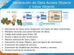 generaci n de data access objects y value objects