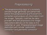 preprocessing