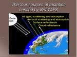 the four sources of radiation sensed by seawifs