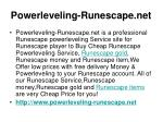 powerleveling runescape net