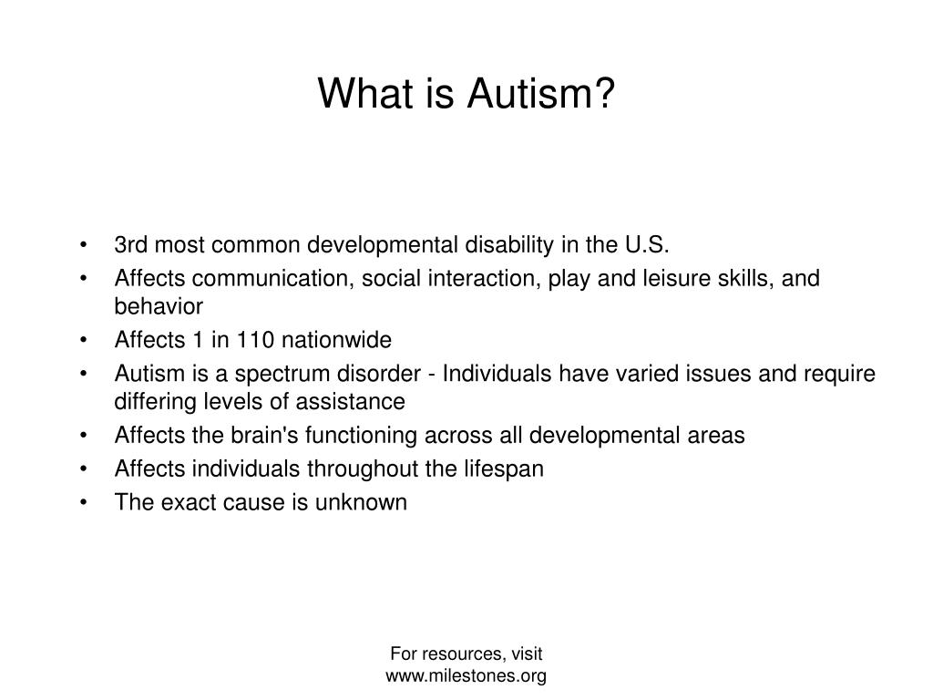 3rd most common developmental disability in the U.S.