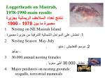 loggerheads on masirah 1978 1990 main results 1978 1990