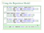 using the repetition model