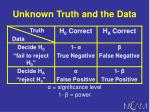unknown truth and the data