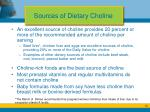 sources of dietary choline