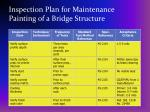 inspection plan for maintenance painting of a bridge structure27