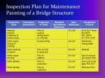 inspection plan for maintenance painting of a bridge structure28