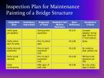 inspection plan for maintenance painting of a bridge structure29