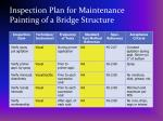 inspection plan for maintenance painting of a bridge structure35