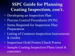 sspc guide for planning coating inspection con t