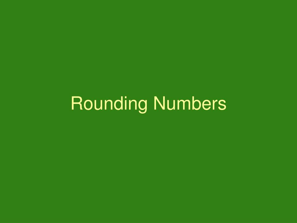 rounding numbers l.