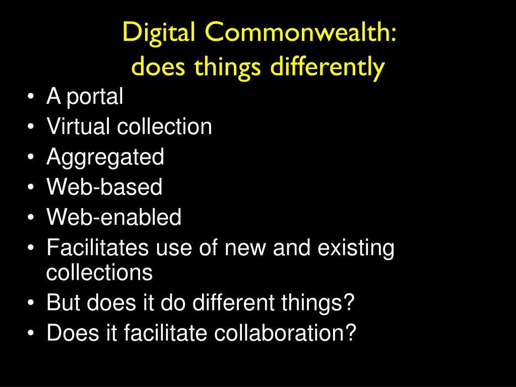Digital Commonwealth:
