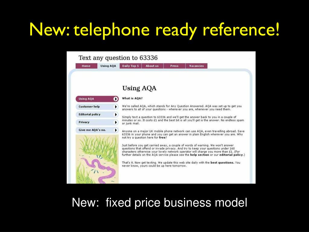 New: telephone ready reference!