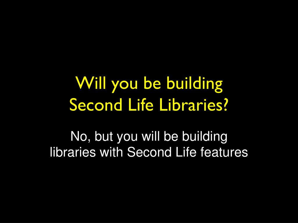 Will you be building