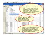 creating the training sample and the validation sample 1