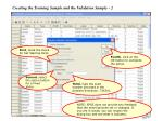 creating the training sample and the validation sample 2