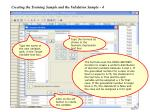 creating the training sample and the validation sample 4