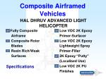 composite airframed vehicles