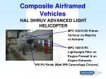 composite airframed vehicles15
